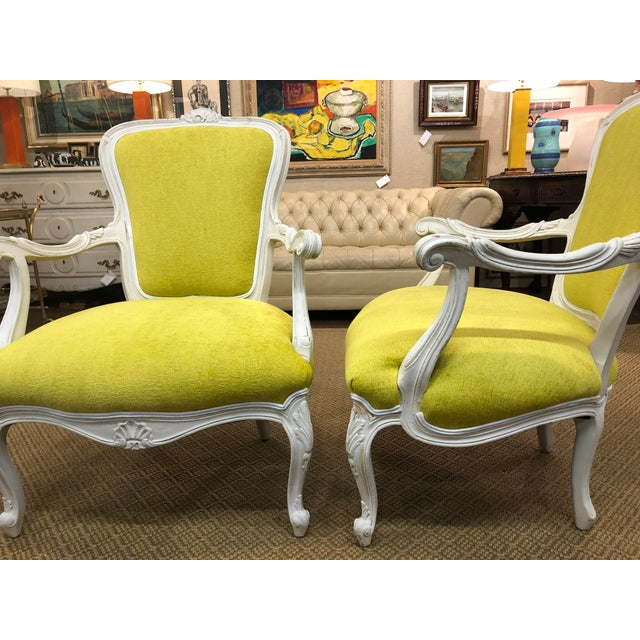1960s Vintage French Style Chairs- A Pair For Sale - Image 5 of 8