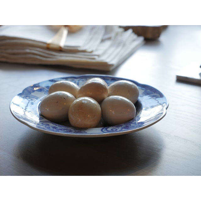20th Century French Country Christine Viennet Trompe l'Oeil Egg Plate For Sale In New York - Image 6 of 8