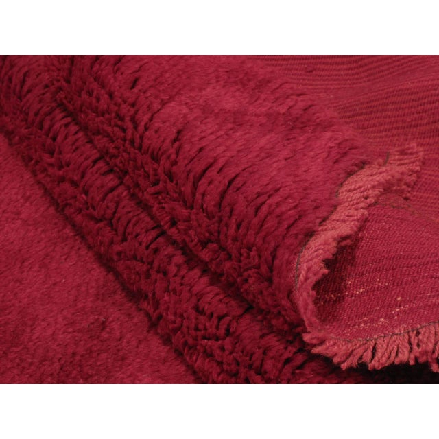 Red Fantastic Red Tulu Carpet For Sale - Image 8 of 8