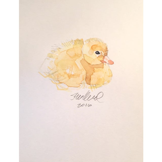 Resting Duckling Watercolor - Image 1 of 2