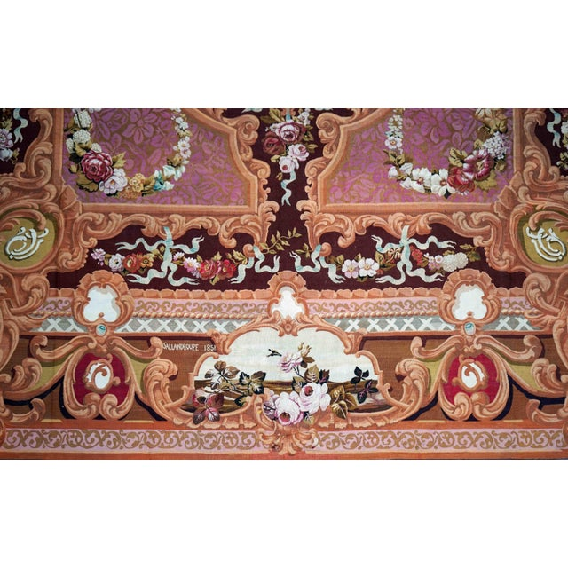 Traditional 1851 Handwoven Antique Sallandrouze Aubusson Rug, Exceptional Condition & Signed For Sale - Image 3 of 9