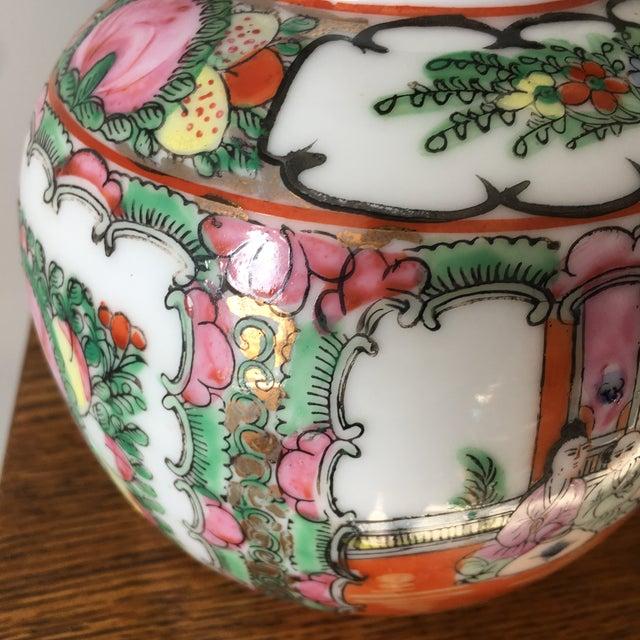 Chinoiserie Petite Rose Medallion Ginger Jar For Sale - Image 3 of 13