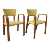 Image of 1950s Vintage Thonet Bentwood Arm Chairs- a Pair For Sale