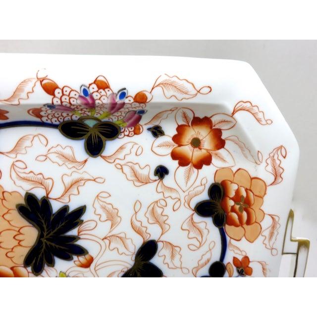 Ceramic Antique Bone China Imari Style Serving Tray For Sale - Image 7 of 13