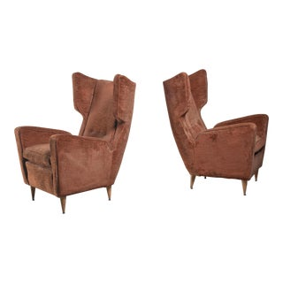 Paolo Buffa Pair of Lounge Chairs, Italy, 1950s For Sale