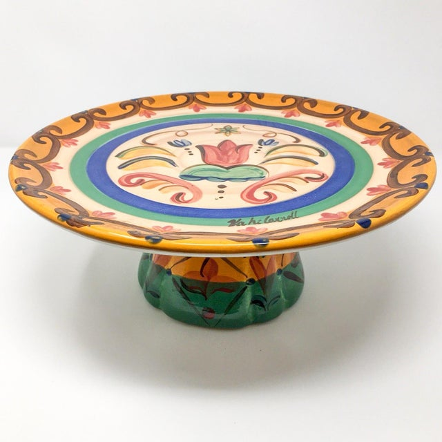"""Vicki Carroll """"Sil Vous Plait"""" Footed Cake Plate For Sale - Image 13 of 13"""