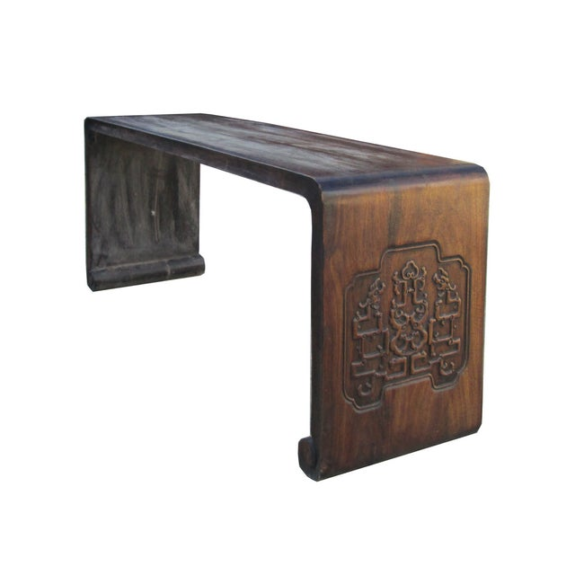 Chinese Rosewood Simple Plain Low Altar Kang Table - Image 2 of 2
