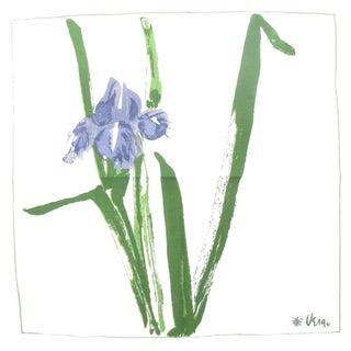 Vintage Vera Neumann Purple Iris Napkins, Set of 6 For Sale