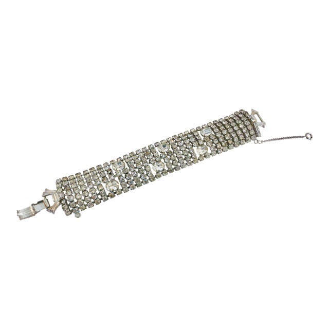 Stunning Weiss Crystal Encrusted Bracelet For Sale
