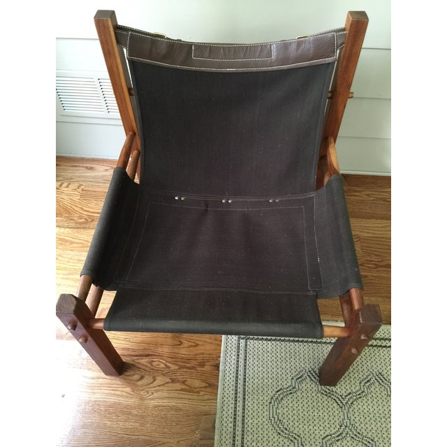 Arne Norell Style Campaign Sling Chair For Sale - Image 7 of 11