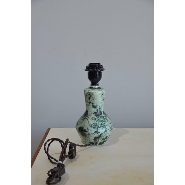 Modern Chic Petite Ceramic Lamp by Jacques Blin For Sale - Image 3 of 7