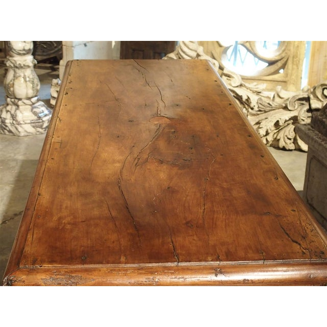Gothic 19th Century Walnut Wood Refectory Table From Italy For Sale - Image 3 of 12