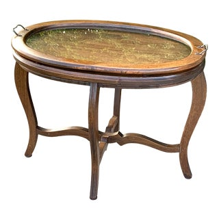 Vintage Walnut Tray Table For Sale