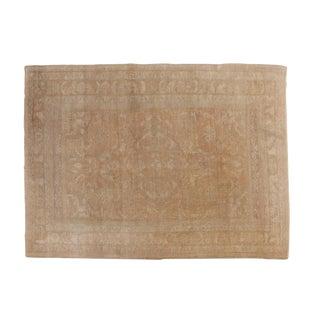 "Vintage Distressed Oushak Carpet - 6'1"" X 8'2"" For Sale"