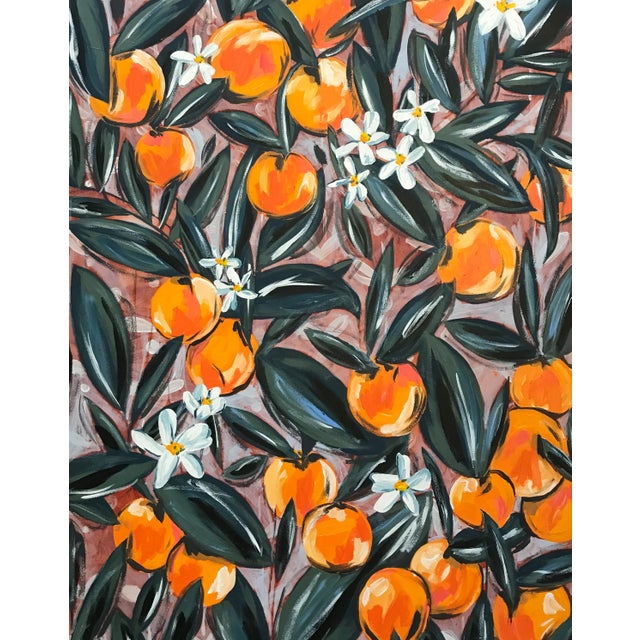 "Abstract Morgan Rollinson ""Orange Blossoms for Amelia"" Giclee Print For Sale - Image 3 of 3"