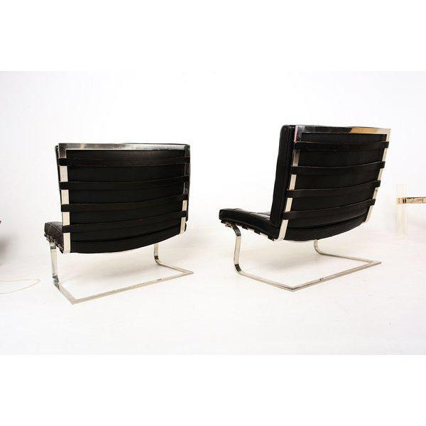 Ludwig Mies Van Der Rohe Tugendhat Lounge Chairs for Knoll - A Pair For Sale - Image 9 of 10