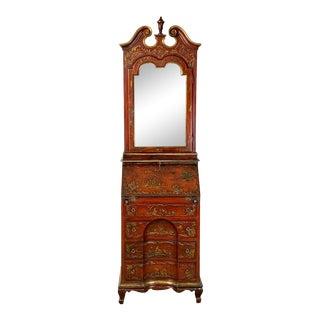 19th Century Italian Chinoiserie Decorated Secretary Desk For Sale