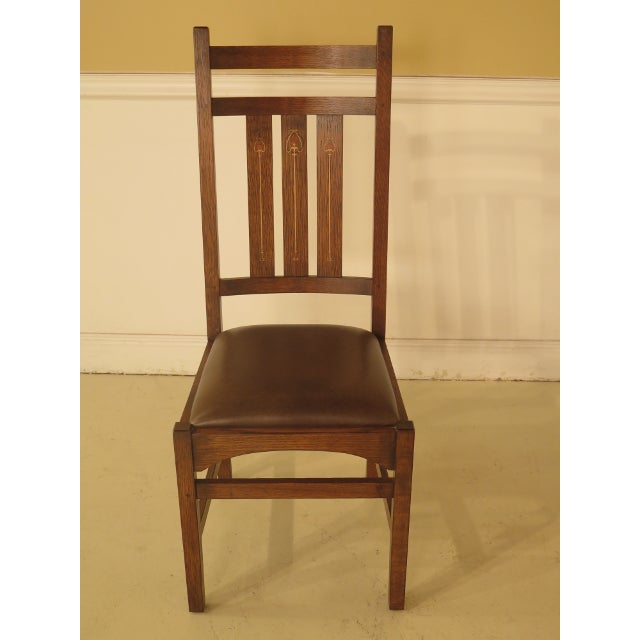 Stickley Harvey Ellis Design Oak Dining Room Chairs