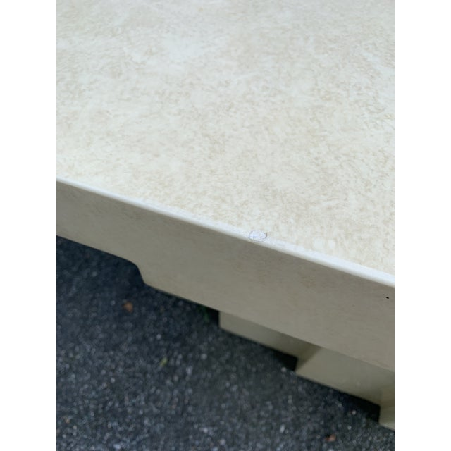 Champagne Postmodern Lacquered Stepped Console For Sale - Image 8 of 12