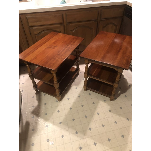 1950s Cherry Stickley End Tables - a Pair For Sale - Image 9 of 13