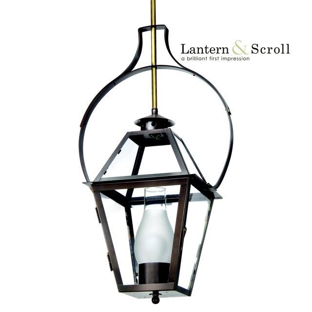 Lantern & Scroll Lantern & Scroll Charleston Hanging Yoke Lantern, Bronze For Sale - Image 4 of 4