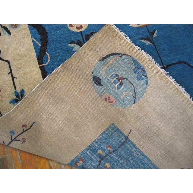 "Textile 1920s Chinese Art Deco Rug - 9'x11'10"" For Sale - Image 7 of 9"