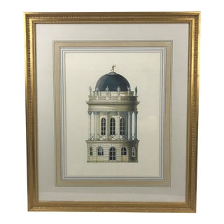 Chelsea House Architectural Palladian Tower Print For Sale