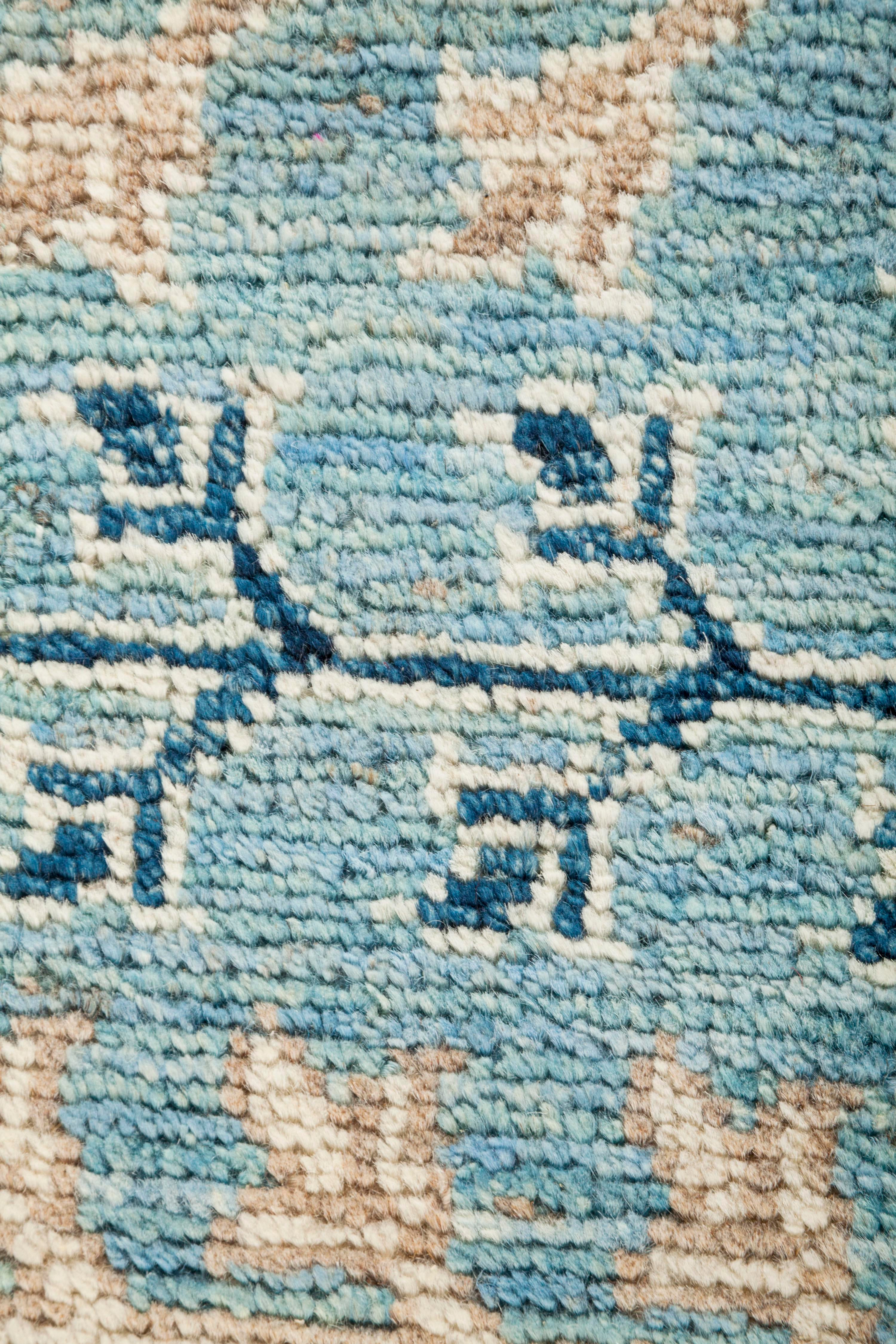 Oushak Hand Knotted Area Rug 12 1 X 14 7 Chairish
