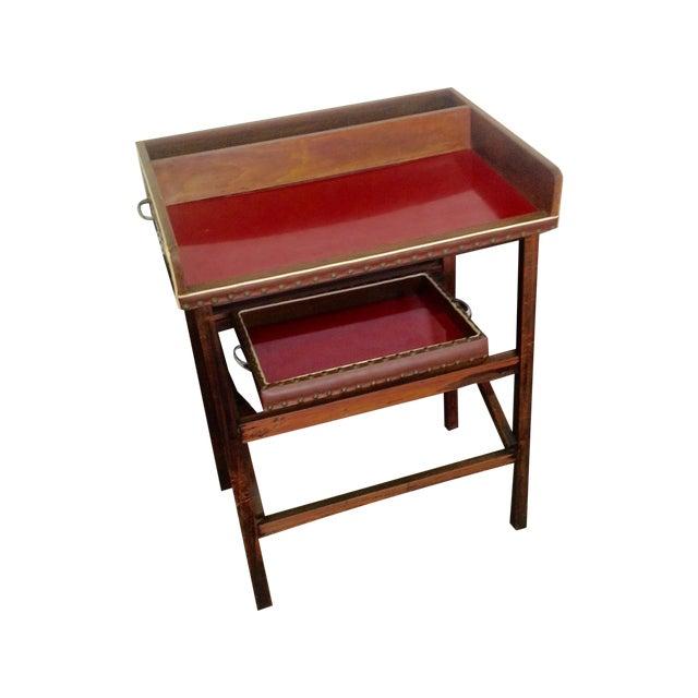 1950's Walnut and Acrylic Folding Bar For Sale