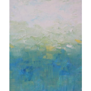 Blue & Yellow Impressionist Modern Abstract Painting