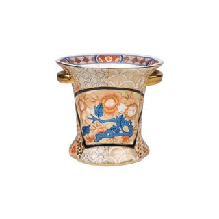 Chinese Satsuma Porcelain Cachepot For Sale