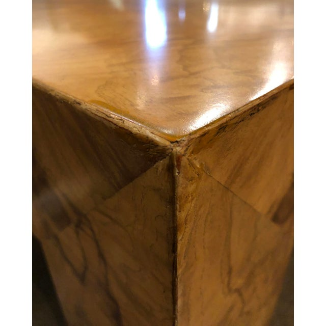 1970s Large Milo Baughman Burl Coffee Table For Sale - Image 5 of 9