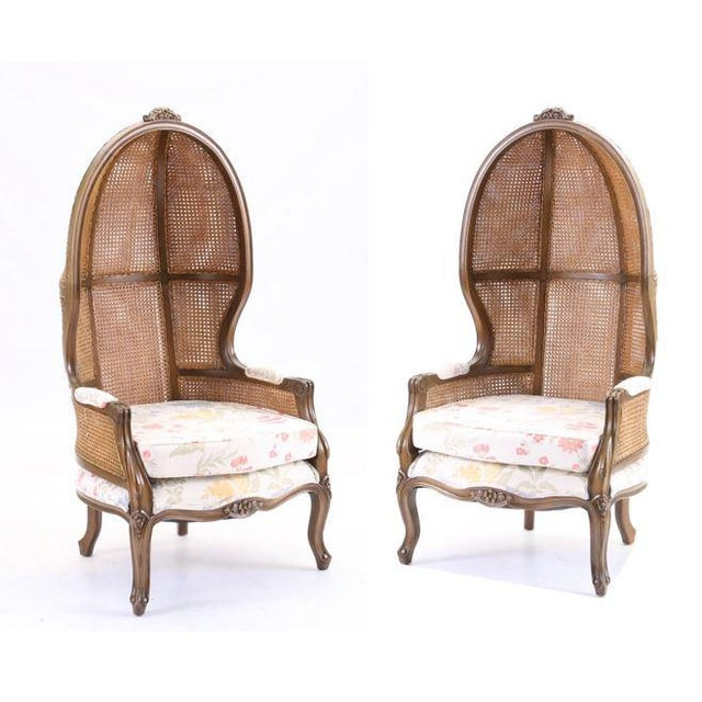 Vintage Mid Century Fully Cane Backed Porter Chairs - A Pair For Sale - Image 13 of 13