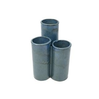 Large Triple Cylinder Ikebana Vase