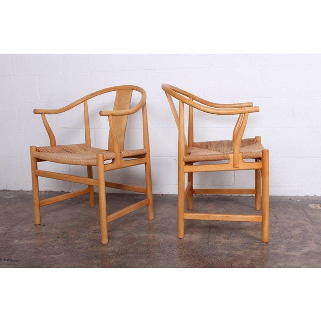 PP Mobler Six Chinese Chairs by Hans Wegner for PP Mobler For Sale - Image 4 of 11