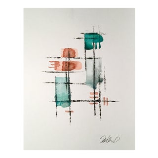 """Rebar Twenty Four"" Original Watercolor & Charcoal Painting"