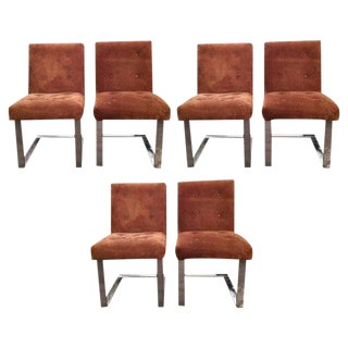 1970s Mid-Century Modern Paul Evans Dining Chairs - Set of 6 For Sale