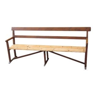 Early 20th Century English Pine Bench For Sale