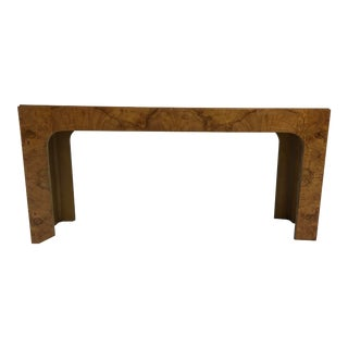 Lane Burl Console Table For Sale