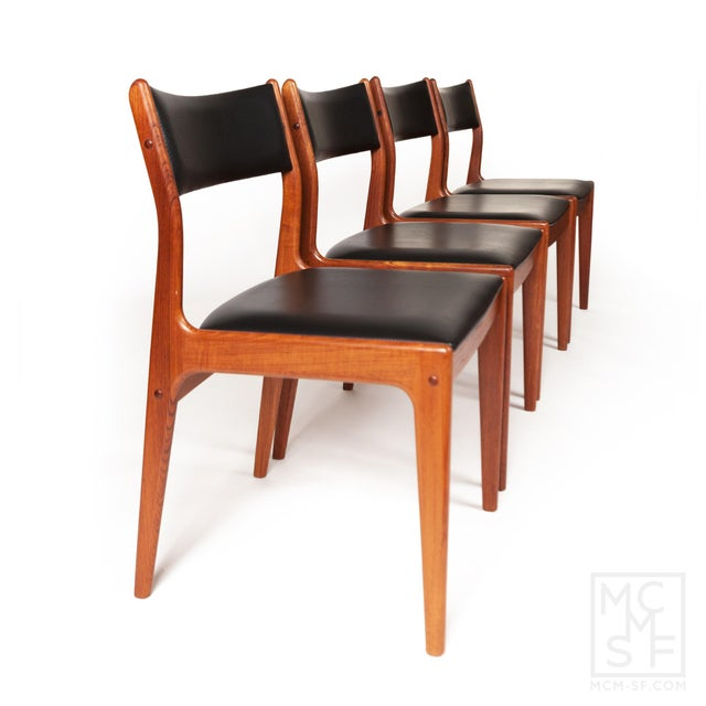 Johannes Andersen Uldum Møbelfabrik Danish Teak Dining Chairs — Set of Four For Sale - Image 12 of 12