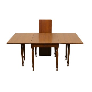 "Willett Solid Elswick Cherry 85"" Drop-Leaf Dining Table For Sale"