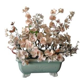 Vintage Shelled Floral Arrangement For Sale