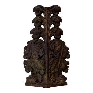 Antique Iron Patina Acanthus Leaf For Sale