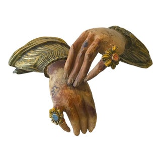 1940s Italian Hand Sculptures - A Pair For Sale
