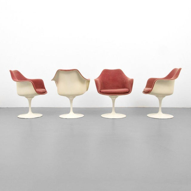 Eero Saarinen for Knoll Inc Tulip Arm Chairs, Set of 4 - Image 6 of 9