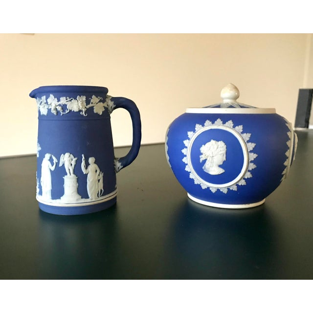 Antique Wedgwood Jasperware is noted for its unglazed matt biscuit finish and is produced in a number of different...