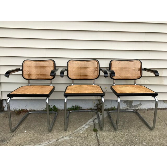 Marcel Breuer Vintage Mid-Century Modern Marcel Breuer Cesca Style Chairs - Set of 6 For Sale - Image 4 of 13