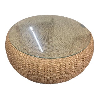 Ralph Lauren Driftwood Woven Cocktail Table For Sale