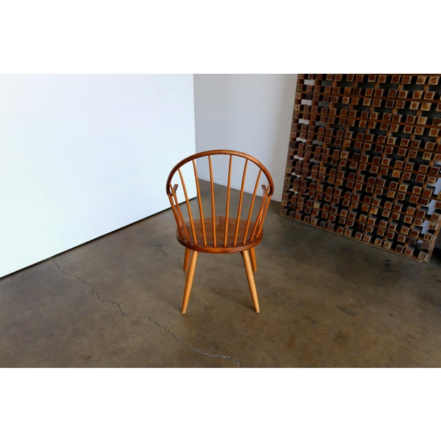Maple Mid Century John Onstine Handcrafted Continuous Armchair For Sale - Image 7 of 10