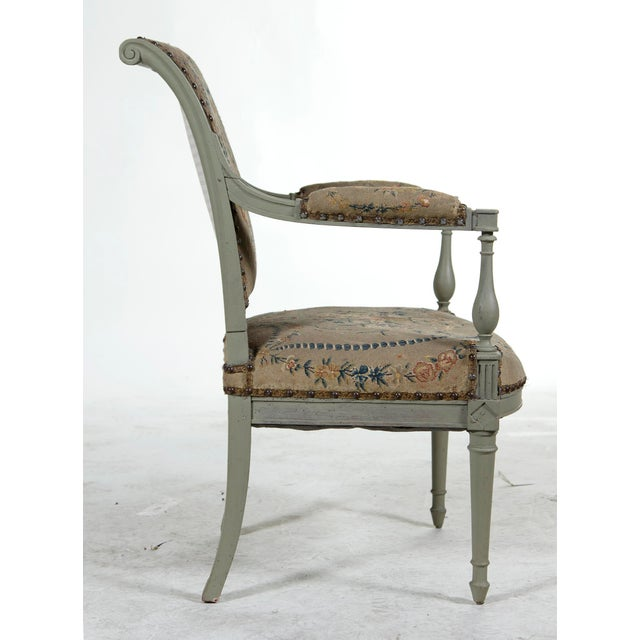 Painted Open Arm Chair For Sale - Image 4 of 4